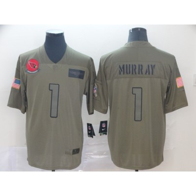 Nike Cardinals 1 Kyler Murray Olive 2019 Salute To Service Limited Men Jersey
