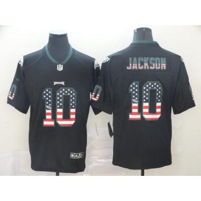 Nike Eagles 10 DeSean Jackson USA Flag Limited Men Jersey
