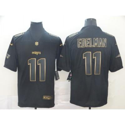 Nike Patriots 11 Julian Edelman Black Gold Vapor Untouchable Limited Men Jersey