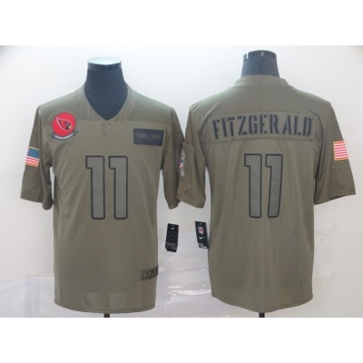 Nike Cardinals 11 Larry Fitzgerald 2019 Olive Salute To Service Limited Men Jersey