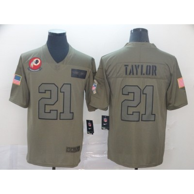 Nike Redskins 21 Sean Taylor 2019 Olive Salute To Service Limited Men Jersey