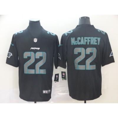 Nike Panthers 22 Christian McCaffrey Black Impact Limited Men Jersey