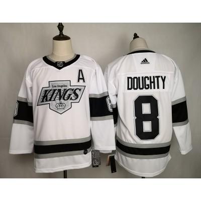 NHL Kings 8 Drew Doughty White Adidas Men Jersey
