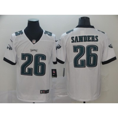 Nike Eagles 26 Miles Sanders White Vapor Untouchable Limited Men Jersey
