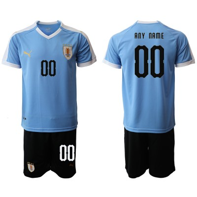 2019-20 Uruguay Customized Home Soccer Men Jersey