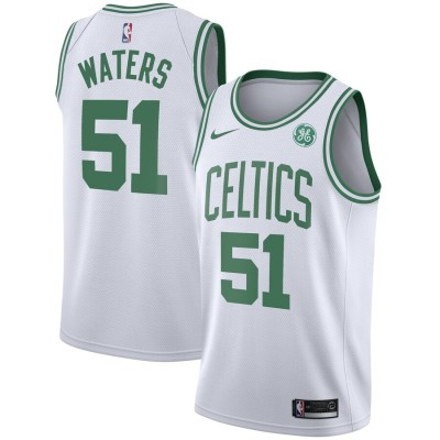 NBA Celtics 51 Tremont Waters White Nike Men Jersey with Sponsor Patch