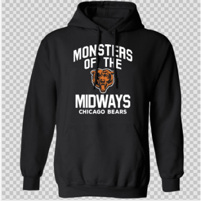 NFL Monsters Of The Midway Chicago Bears Black Hoodie