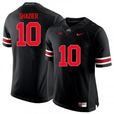 NCAA Ohio State Buckeyes 10 Ryan Shazier Black Limited Men Jersey