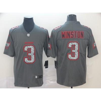 Nike Buccaneers 3 Jameis Winston Gray Static Vapor Untouchable Limited Men Jersey