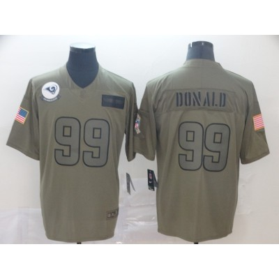Nike Rams 99 Aaron Donald 2019 Olive Salute To Service Limited Men Jersey