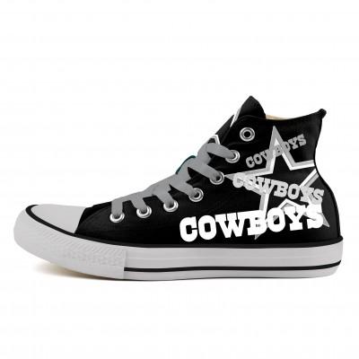 NFL Dalls Cowboys Repeat Print High Top Sneakers 014