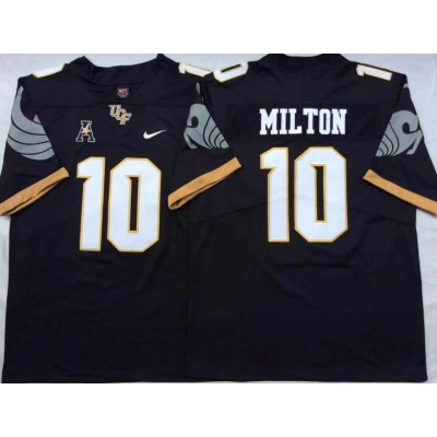 NCAA UCF Knights 10 Mckenzie Milton Black College Football Men Jersey