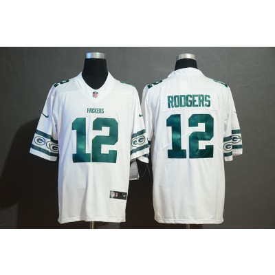 Nike Packers 12 Aaron Rodgers 2019 New Team Logo Vapor Limited Men Jersey