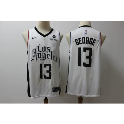 NBA Clippers 13 Paul George White City Edition Nike Men Jersey