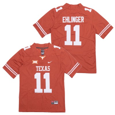 NCAA Texas Longhorns 11 Sam Ehlinger Orange Nike College Football Men Jersey