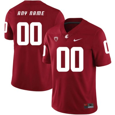 NCAA Washington State Cougars Red College Football Customized Men Jersey