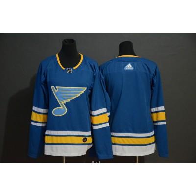 NHL Blues Blank Blue Alternate Adidas Men Jersey