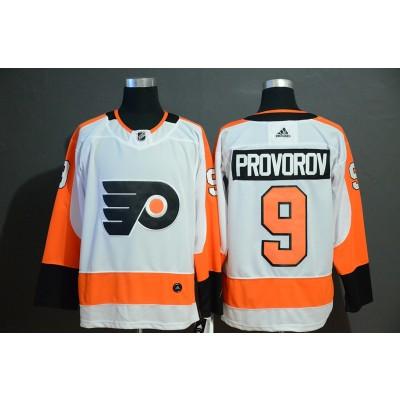 NHL Flyers 9 Ivan Provorov White Adidas Men Jersey