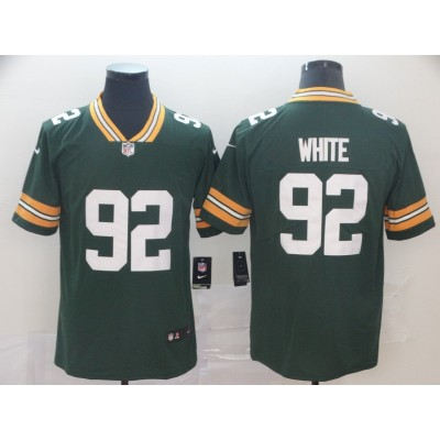 Nike Green Bay Packers 92 Reggie White Green Limited Vapor Men Jersey