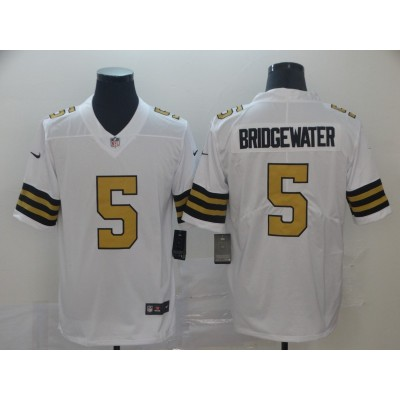 Nike Saints 5 Teddy Bridgewater White Color Rush Limited Men Jersey