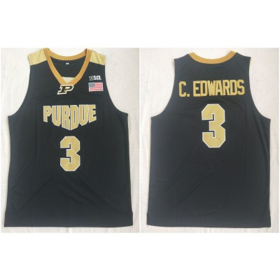 NCAA Purdue 3 Carsen Edwards Black College Basketball Men Jersey