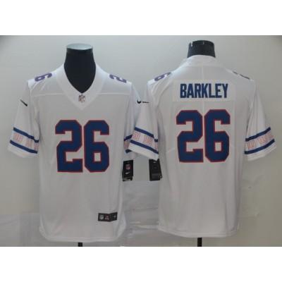 Nike Giants 26 Saquon Barkley 2019 New Team Logo Vapor Limited Men Jersey