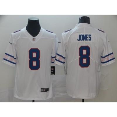 Nike Giants 8 Daniel Jones 2019 New Team Logo Vapor Limited Men Jersey