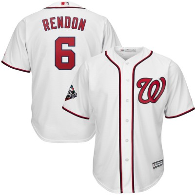MLB Nationals 6 Anthony Rendon White 2019 World Series Bound Cool Base Men Jersey