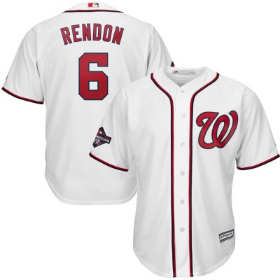 MLB Nationals 6 Anthony Rendon White 2019 World Series Champions Cool Base Men Jersey