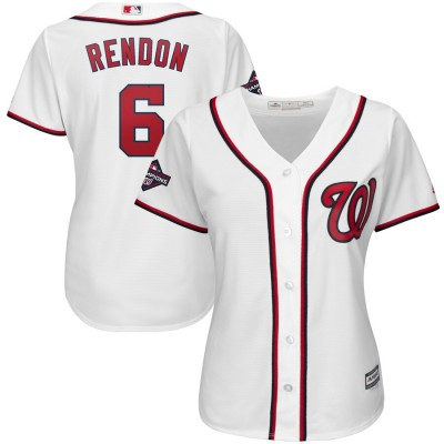 MLB Nationals 6 Anthony Rendon White 2019 World Series Champions Cool Base Women Jersey