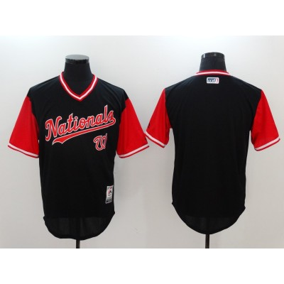 MLB Nationals Blank Navy 2017 Players Weekend Men Jersey