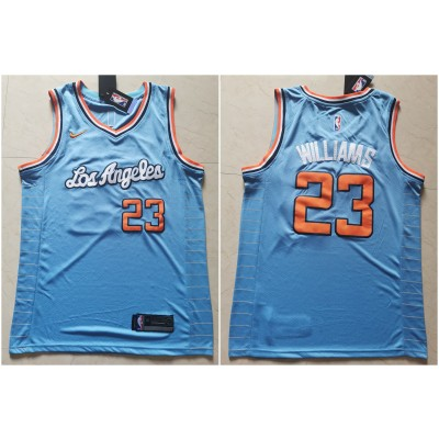 NBA Clippers 23 Lou Williams Light Blue Nike Men Jersey