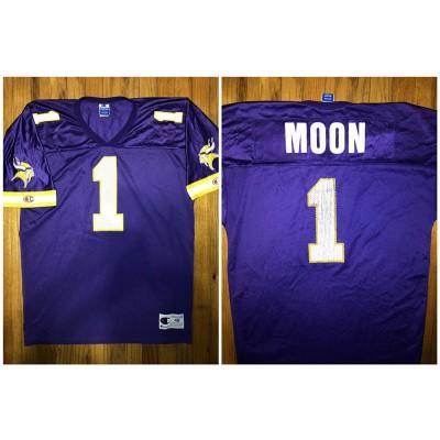 NFL Vikings 1 Warren Moon Purple Throwback Men Jersey