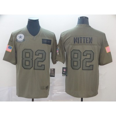 Nike Cowboys 82 Jason Witten 2019 Olive Salute To Service Limited Men Jersey