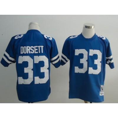 NFL Cowboys 33 Tony Dorsett Light Blue Throwback Men Jersey