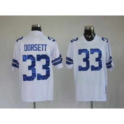 NFL Cowboys 33 Tony Dorsett White Throwback Men Jersey