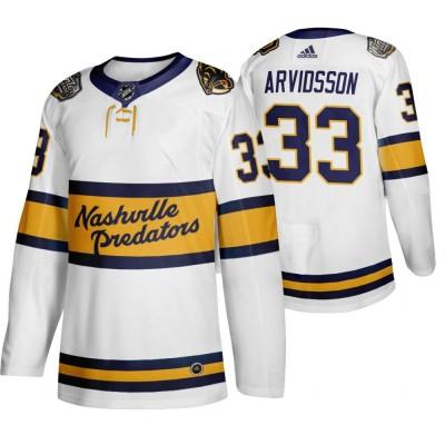 NHL Predators 33 Viktor Arvidsson White 2020 Winter Classic Adidas Men Jersey