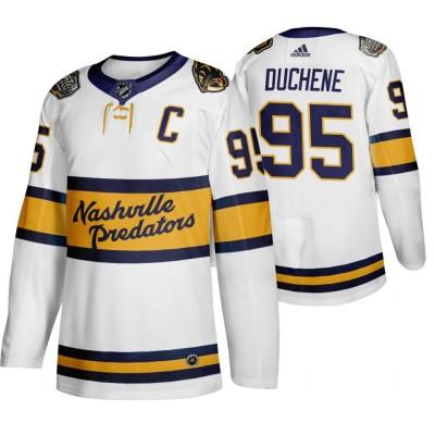 NHL Predators 95 Matt Duchene White 2020 Winter Classic Adidas Men Jersey