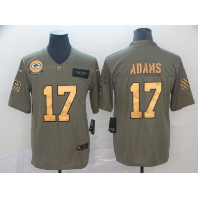 Nike Packers 17 Davante Adams 2019 Olive Gold Salute To Service Limited Men Jersey