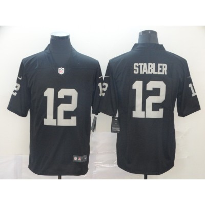 Nike Raiders 12 Kenny Stabler Black Vapor Untouchable Limited Men Jersey