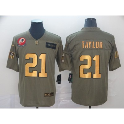 Nike Redskins 21 Sean Taylor 2019 Gold Salute To Service Limited Men Jersey
