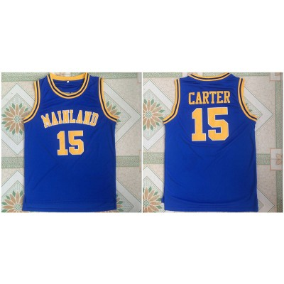 Mainland High School 15 Vince Carter Blue Basketball Men Jersey