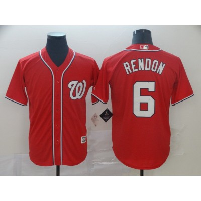 MLB Nationals 6 Anthony Rendon Red Cool Base Men Jersey