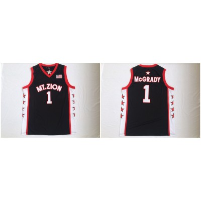 NCAA Mount Zion 1 Tracy McGrady Black College Basketball Men Jersey