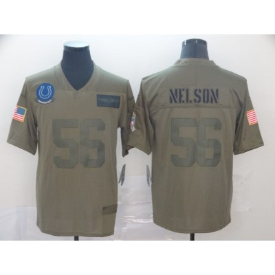 Nike Colts 56 Quenton Nelson 2019 Olive Salute To Service Limited Men Jersey