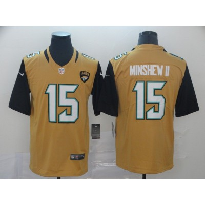 Nike Jaguars 15 Gardner Minshew II Color Rush Limited Men Jersey