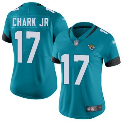 Nike Jaguars 17 DJ Chark Teal Vapor Untouchable Limited Women Jersey