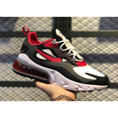 Nike Max 270 React Black Red Shoes