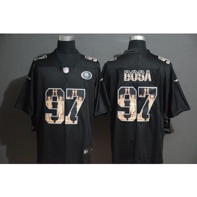 Nike 49ers 97 Nick Bosa Black Statue of Liberty Limited Men Jersey