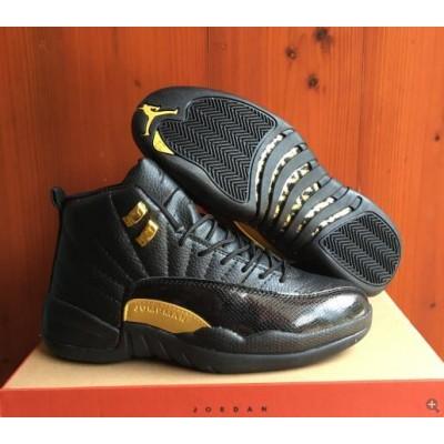 Air Jordan 12 Black Gold Shoes